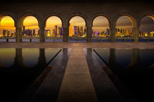Skyline fra Museum of Islamic Art, Doha, Qatar
