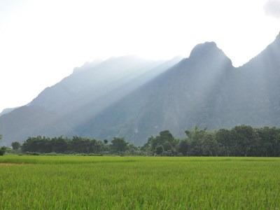 Oplev smuk natur ved Vang Vieng