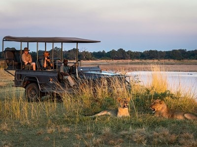 Game Drive i South Luangwa National Park